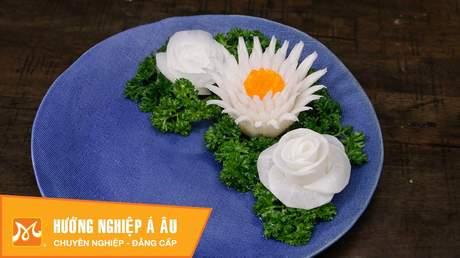 Hướng Nghiệp Á Âu - Nghệ Thuật Cắt Tỉa: Cách cắt tỉa hoa từ củ cải trắng: hoa cúc, hoa hồng