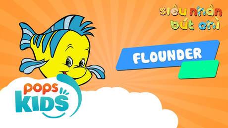 Siêu nhân Bút chì - Cách vẽ Flounder (Nàng tiên cá)