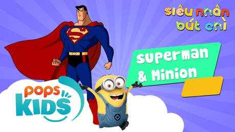 Siêu Nhân Bút Chì - Cách vẽ Superman và Minion
