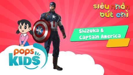Siêu Nhân Bút Chì - Cách vẽ Shizuka và Captain America
