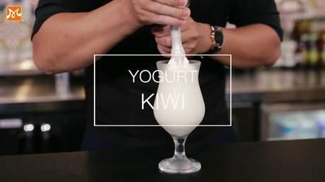 Hướng Nghiệp Á Âu - Học Pha Chế: Hướng dẫn cách làm yogurt kiwi giải khát cho ngày nóng