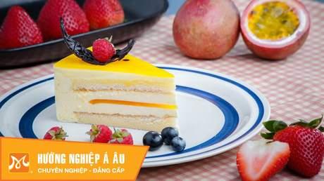 Hướng Nghiệp Á Âu - Học Làm Bánh Ngon: Cách làm bánh passion cheese mousse cake