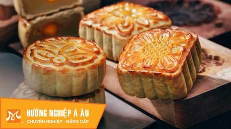 Hướng Nghiệp Á Âu - Học Làm Bánh Ngon: Cách làm bánh trung thu nướng nhân hạt sen nhân sữa dừa