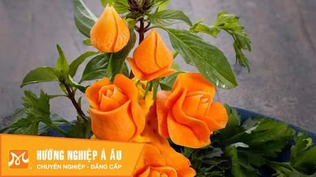 Hướng Nghiệp Á Âu - Nghệ Thuật Cắt Tỉa: 3 cách cắt tỉa hoa hồng từ cà rốt