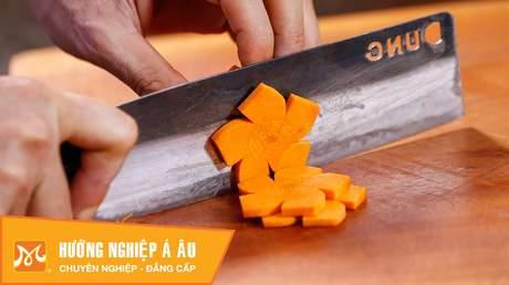 Hướng Nghiệp Á Âu - Nghệ Thuật Cắt Tỉa: 5 cách cắt tỉa cà rốt đơn giản trang trí món ăn