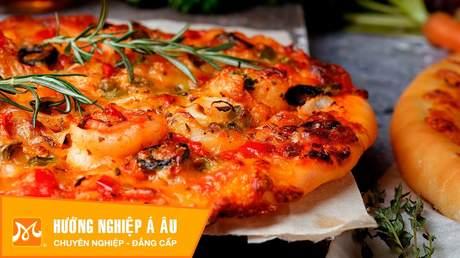 Hướng Nghiệp Á Âu - Học Làm Bánh Ngon: Cách làm bánh pizza hải sản siêu ngon siêu hấp dẫn