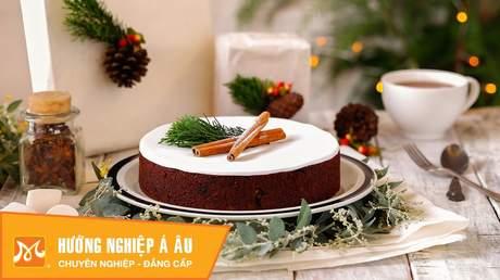 Hướng Nghiệp Á Âu - Học Làm Bánh Ngon: Cách làm bánh giáng sinh (bánh christmas cake)
