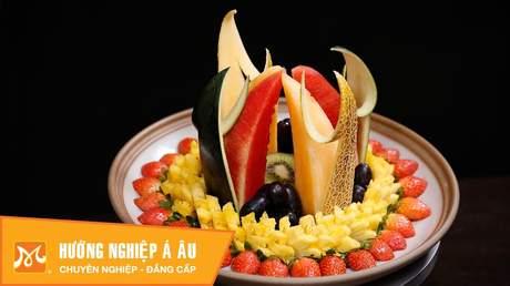 Hướng Nghiệp Á Âu - Nghệ Thuật Cắt Tỉa: 7 cách cắt tỉa trang trí dĩa trái cây cực đẹp