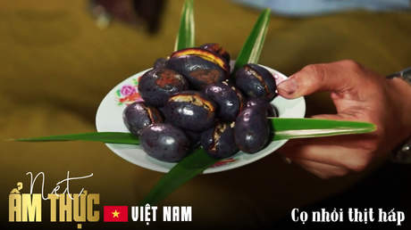 Nét ẩm thực Việt: Cọ nhồi thịt hấp