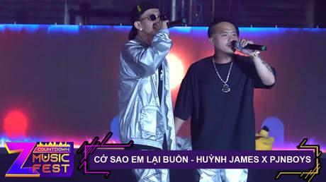 Z Countdown Music Fest 2020: Huỳnh James x Pjnboys - Cớ Sao Em Lại Buồn