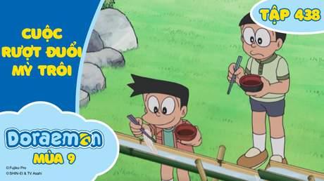 Doraemon S9 - Tập 438: Cuộc rượt đuổi mỳ trôi