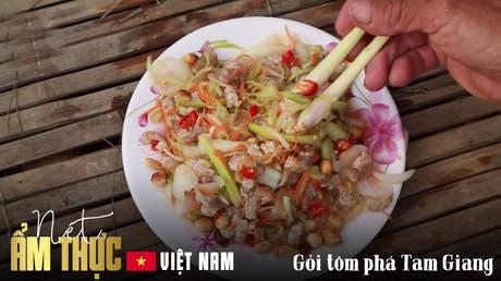 Nét ẩm thực Việt: Gỏi tôm phá Tam Giang