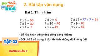 Học Toán Cùng POPS Kids - Tập 22: Bảng nhân 7