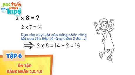 Học Toán Cùng POPS Kids - Tập 6: Ôn tập bảng nhân 2,3,4,5