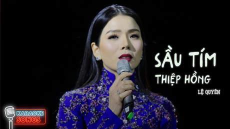 Lệ Quyên (ft. Quang Lê) - Karaoke: Sầu tím thiệp hồng