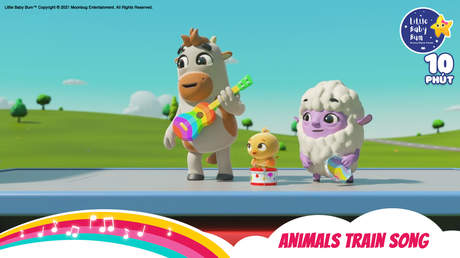 Little Baby Bum - Superclip 37: Animals Train Song