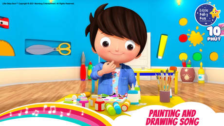 Little Baby Bum - Superclip 8: Painting And Drawing Song
