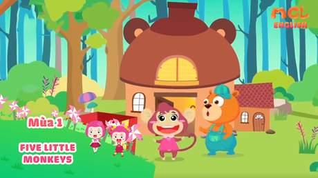 Mầm Chồi Lá tiếng Anh - Five little monkeys