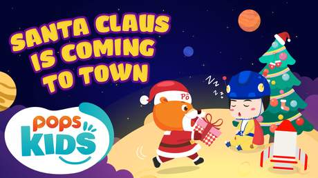 Mầm chồi lá tiếng Anh - Santa Claus is coming to town