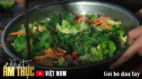 Nét ẩm thực Việt - Gỏi bò dâu tây