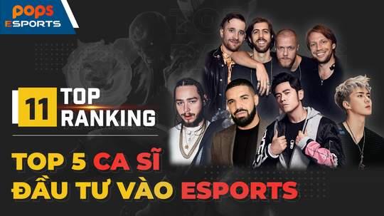 Top 5 Những nghệ sĩ hàng đầu thế giới đầu tư vào eSports