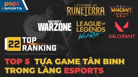Top 5 tựa game tân binh trong làng eSports
