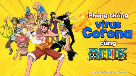 One Piece - Phòng chống Corona virus cùng băng hải tặc Mũ Rơm