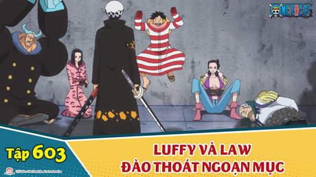 One Piece S16 - Tập 603: Luffy và Law đào thoát ngoạn mục