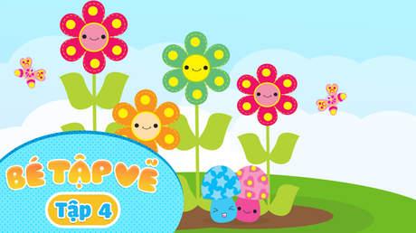 Simple Drawing - Bé Tập Vẽ - Tập 4: Bé vẽ các loài hoa
