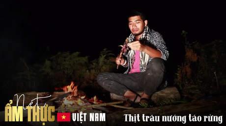 Nét ẩm thực Việt: Thịt trâu nướng táo rừng